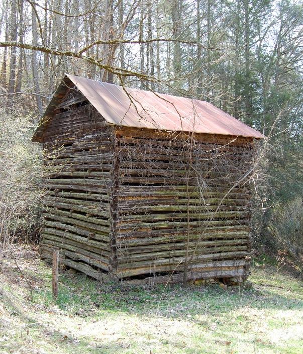 James geneva roberts barn for Tobacco barn house plans