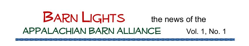 Appalachian Barn Alliance Newsletter